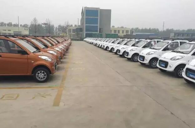跃迪电动汽车批量发车沧州 军工品质,是您购买首选高清图片